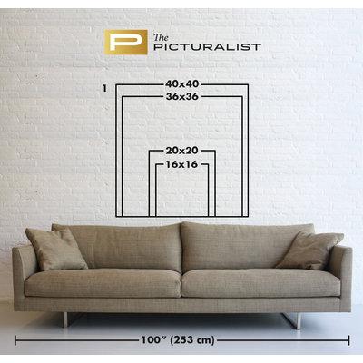 Framed Print on Rag Paper: Design 6 by Pedro Nuka