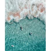 Framed Print on Rag Paper: Surf in Tahiti by A. Krowitz