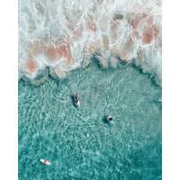 Framed Print on Rag Paper: Surf in Tahiti