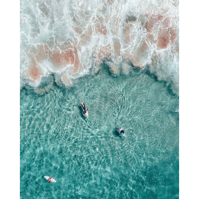 The Picturalist Framed Print on Rag Paper: Surf in Tahiti by A. Krowitz