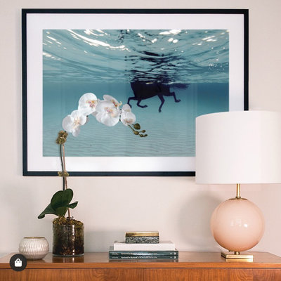 Framed Print on Rag Paper: Carrusel Marino by Enric Gener