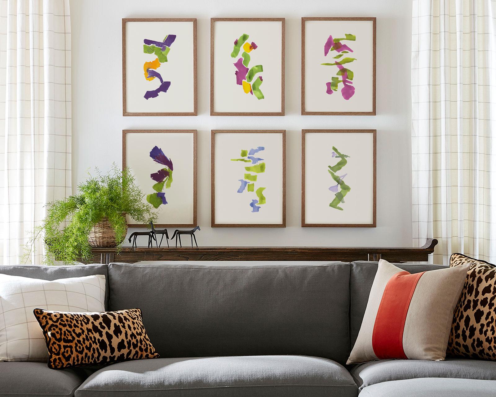 Color Studies Gallerie Wall by Encarnacion Portal Rubio