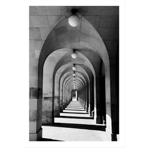 Framed Print on Rag Paper: Perspective with Arches