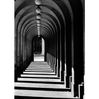 The Picturalist Framed Print on Rag Paper: Perspective with Arches  by M. Petropolis