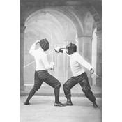 Framed Print on Rag Paper: Maitres D'armes 1899 by Paul Nadar Kramer