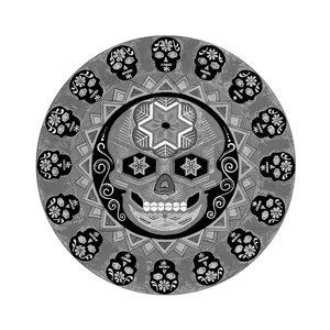 Framed Print on Rag Paper: Calavera