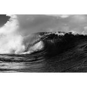 Framed Print on Rag Paper: Wave by Stephan Debelle