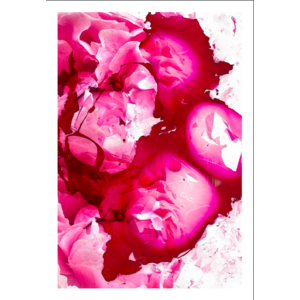 Framed Print on Rag Paper: Petals and Shards