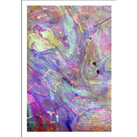 Framed Print on Rag Paper: Flow