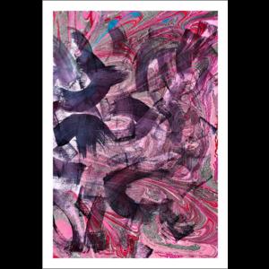 Framed Print on Rag Paper: Asaria Crystal