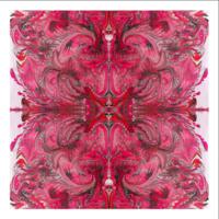 Framed Print on Rag Paper: Pink Burst