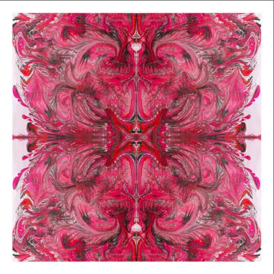 Framed Print on Rag Paper: Pink Burst by Paola De Giovanni