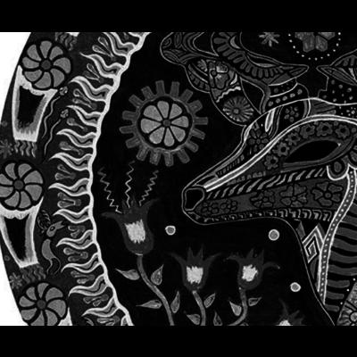 Framed Print on Rag Paper: Ciervo by Octavio Fuentes