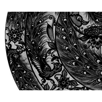 Framed Print on Rag Paper: Cristatus by Octavio Fuentes