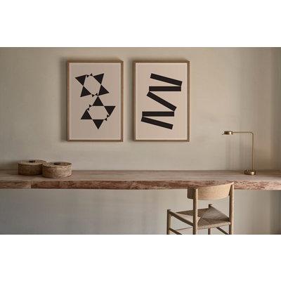 Framed Print on Rag Paper: White Tie Modern 2 by Alejandro Franseschini