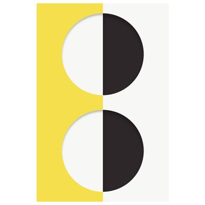 Framed Print on Rag Paper: Blink Series with Yellow by Francesco Alessandrini