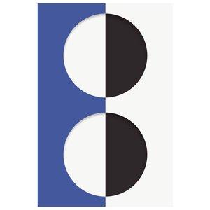 Framed Print on Rag Paper: Blink Series with Blue