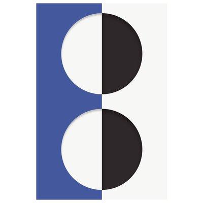 Framed Print on Rag Paper: Blink Series with Blue by Francesco Alessandrini
