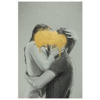 Framed Print on Rag Paper: The Kiss