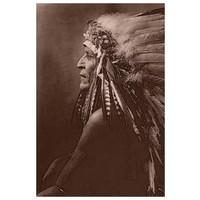 Framed Print on Rag Paper: Native American Indian 'Blackfoot Brave'
