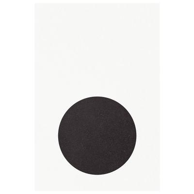 Framed Print on Rag Paper: Black Blink by Francesco Alessandrini