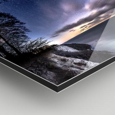 Facemount Metal: Blurred Forest UV Printed on Metal
