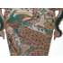 Framed Print on Rag Paper: Chinese Vase in Green and Pink