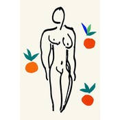 Facemount Acrylic: Nude with Oranges by Henri Matisse in Facemount Acrylic Glass