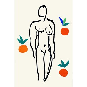 Facemount Acrylic: Nude with Oranges