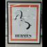 Framed Print on Rag Paper: Print of Vintage Hermes Poster 1932 Leather Brand
