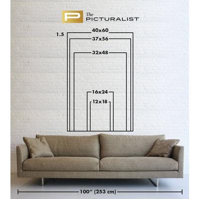 Framed Print on Rag Paper: Plumage Rouge Vert 2 by D. Cole