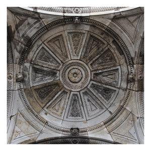 Framed Print on Rag Paper: Stone Carved Dome