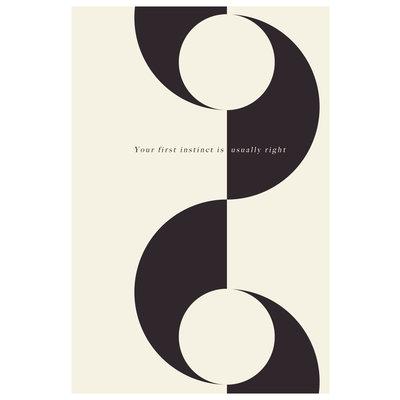 Framed Print on Rag Paper: First Instinct by Francesco Alessandrini