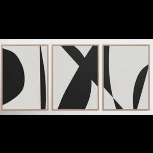 Framed Print on Rag Paper: Symbolism Triptych
