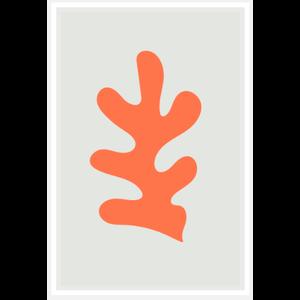 Framed Print on Rag Paper: Fiesta Orange Coral
