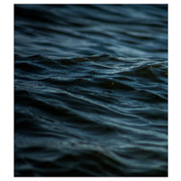 Facemount Acrylic: Santorini Blue (Left)