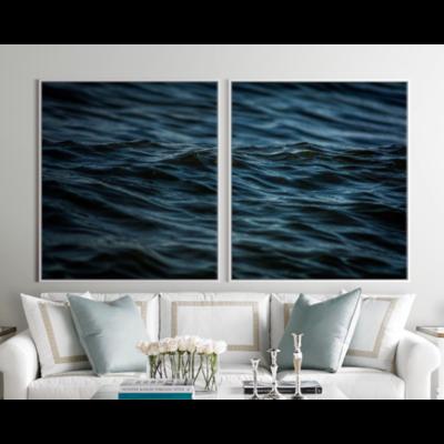Facemount Acrylic: Santorini Blue (Left) Facemount Acrylic by M. Blazevic