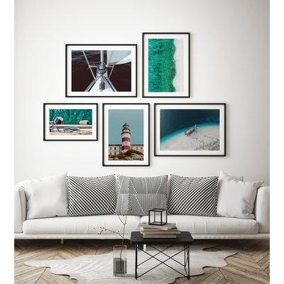 Framed Print on Rag Paper: Lighthouse by T. Almeida