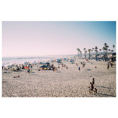 Framed Print on Rag Paper: It Was a Hot Day by H. Rodriguez