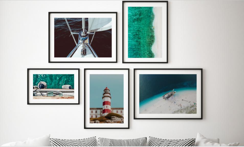Coastal Wall Art, Gallery Walls and Summer Houses Design Ideas