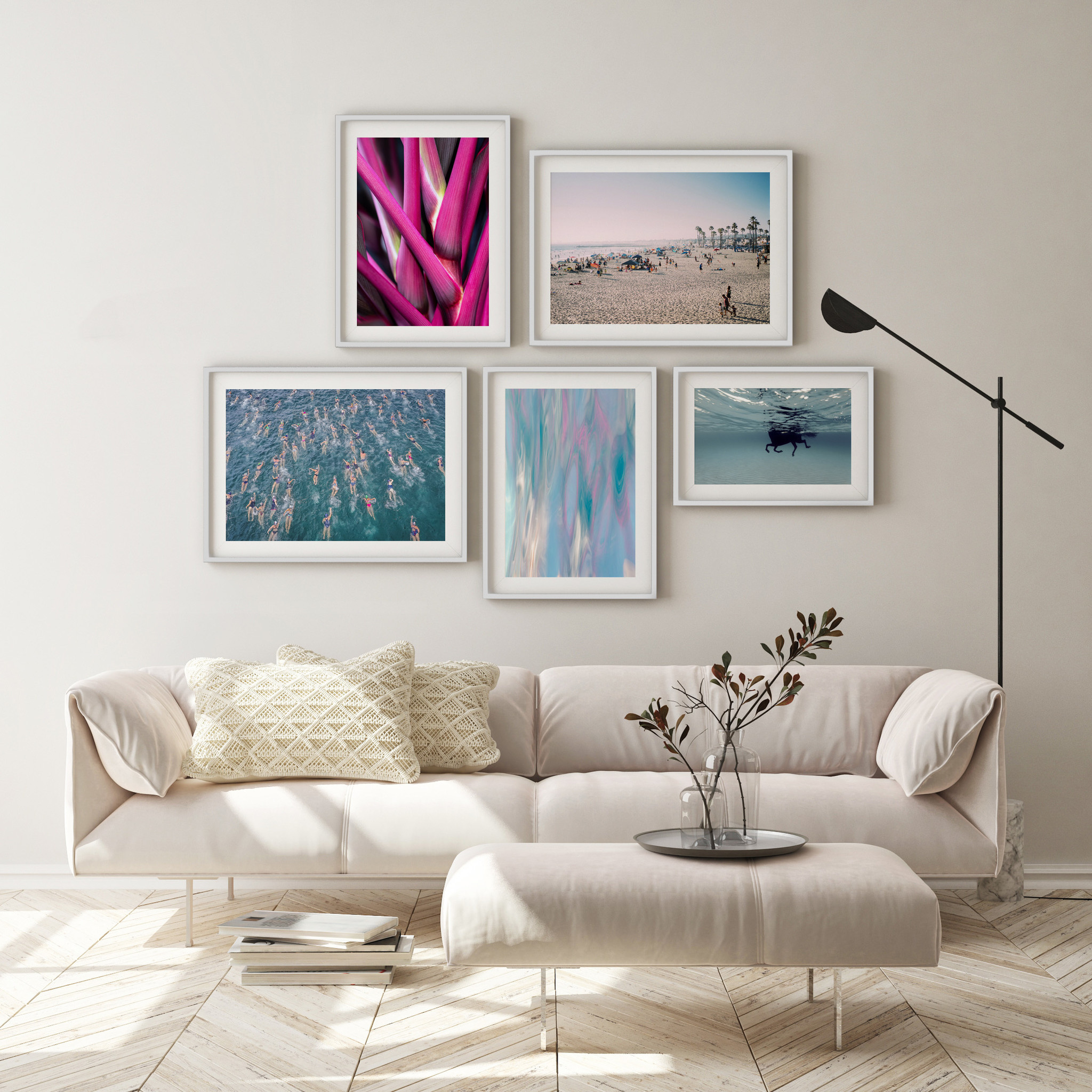 Coastal Gallery Wall The Picturalist