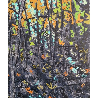 Original Art - Small Stand Grey by Kim Atlin