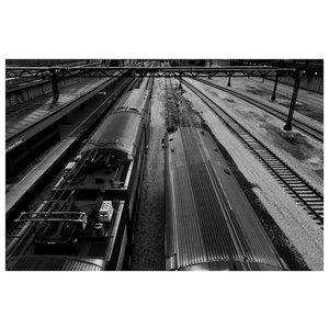 Framed Print on Rag Paper: Chicago's L Train