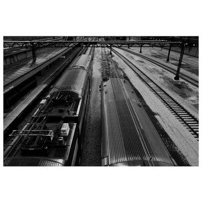 Framed Print on Rag Paper: Chicago's L Train by Ugo Shirvanian