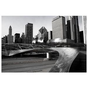 Framed Print on Rag Paper: Frank Gehry's Bridge