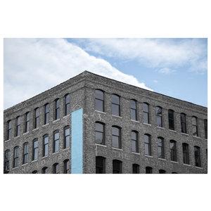 Framed Print on Rag Paper: Brick Building Close-up