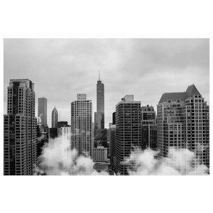 Framed Print on Rag Paper: Chicago Skyline