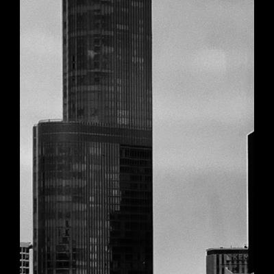 Framed Print on Rag Paper: Chicago Skyline by Ugo Shirvanian