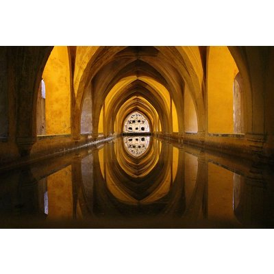 The Picturalist Framed Print on Rag Paper: Underground Thermal Baths in Seville, Spain