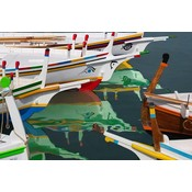 Print on Paper US250 - Colorful Boats by A. Quino
